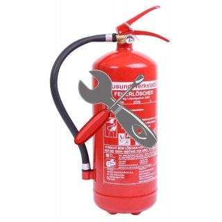 Favorit Wartung für Feuerlöscher 6 kg Pulver 1 Stück versandkostenfrei inkl. JU14